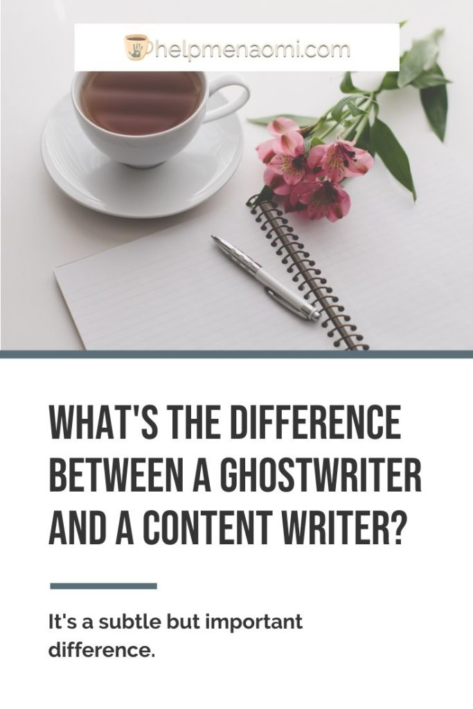 What's the Difference Between a Ghostwriter and a Content Writer blog title overlay