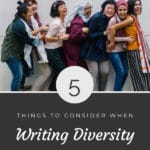 5 Things to Consider when Writing Diversity blog title overlay