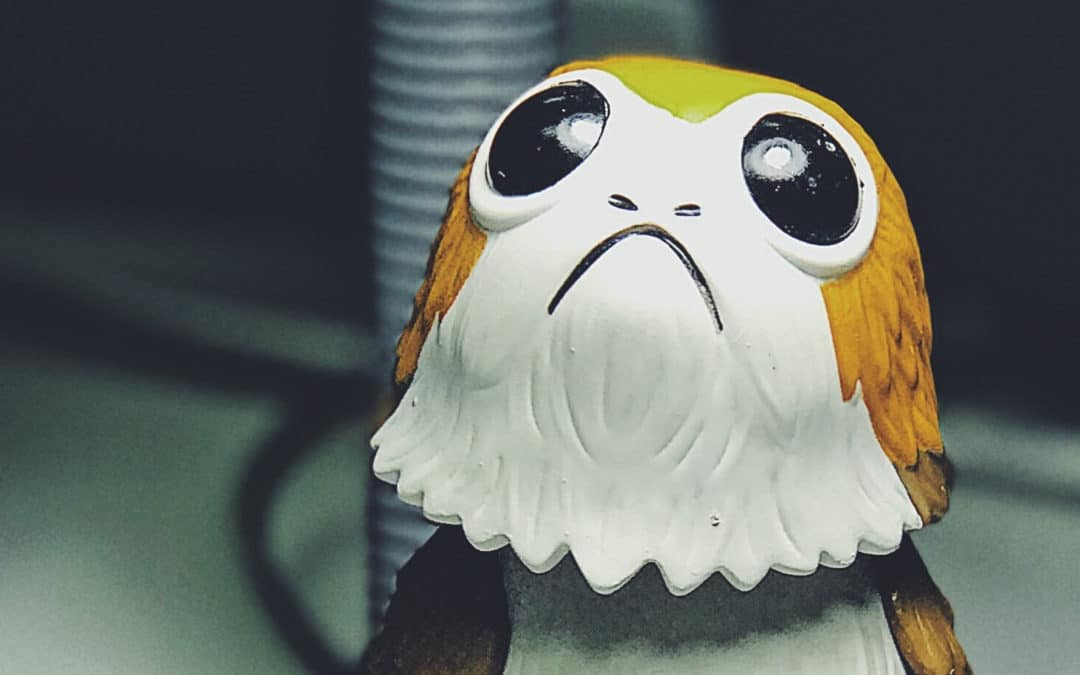 How to Fix Your Unlikeable Characters blog title featured image Toy Porg Character