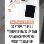 10 Steps to Pull Yourself Back Up and Relaunch when you want to Give Up blog title overlay