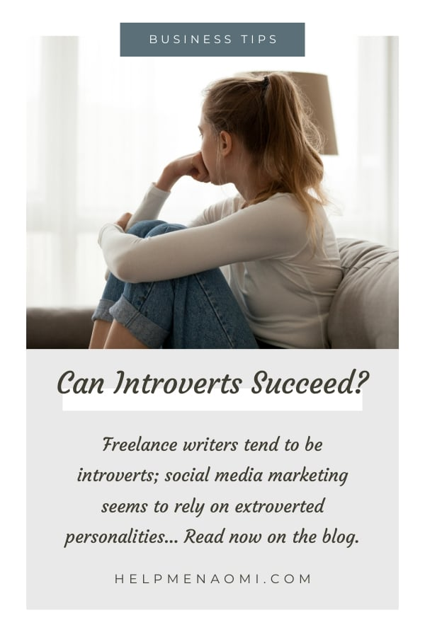 Freelance Writing Introverts in Social Media Marketing: Can we Succeed? blog title overlay