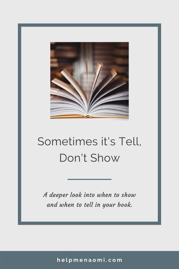 Show don't tell? Sometimes its Tell don't Show blog title overlay
