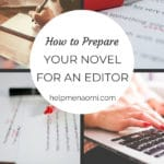 How to Prepare our Novel for an Editor blog title overlay