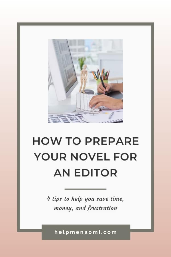 How to Prepare your Novel for an Editor blog title overlay