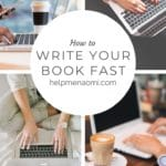 How to Write your Book Fast blog title overlay