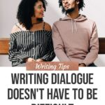 Writing Dialogue Doesn't Have to Be Difficult blog title overlay