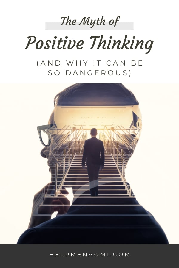 The Myth of Positive Thinking blog title overlay