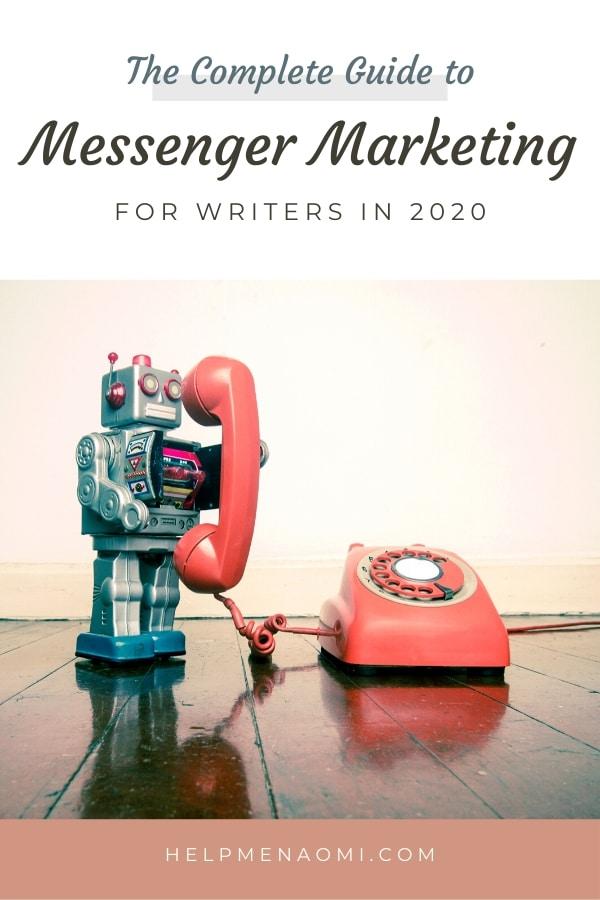 Messenger Marketing for Writers blog title overlay
