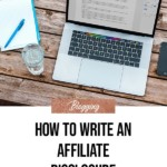 Write an Affiliate Disclosure - blog title overlay