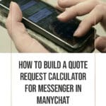 How to Build a Quote-Request Calculator for Messenger in ManyChat blog title overlay