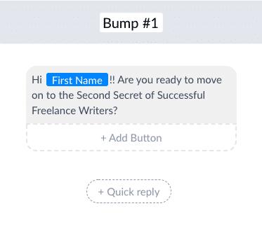 ManyChat Screenshot Bump Message