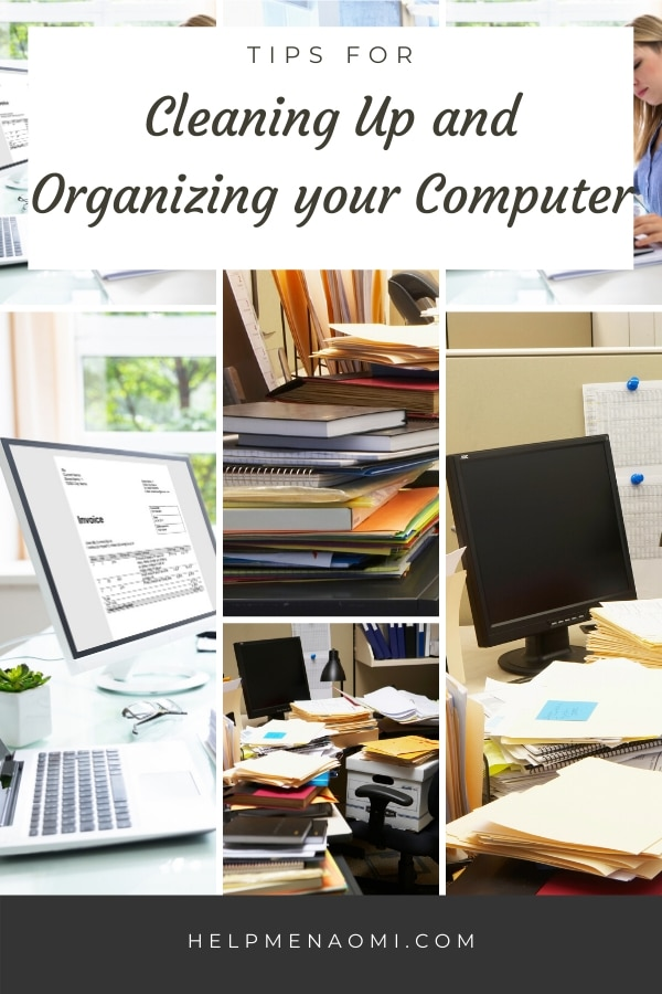 Cleaning Up and Organizing Your Computer blog title overlay