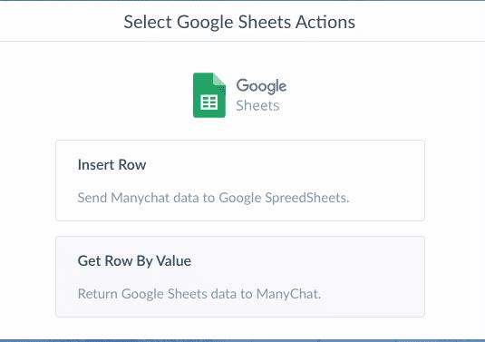 Screenshot Google Sheets Get Row by Value