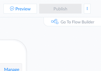 Screenshot ManyChat select flow builder