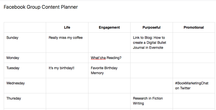 Evernote Screenshot Facebook-Content-Planner
