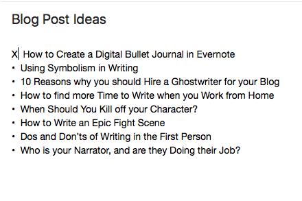 Everynote Screenshot Tracking-ideas