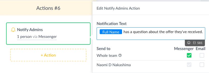 ManyChat Screenshot Notify Admins