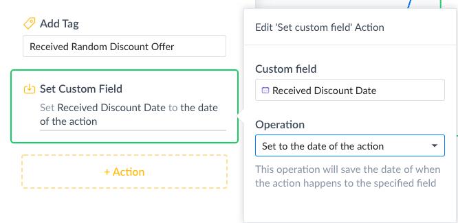ManyChat Screenshot Set Date Field Operation