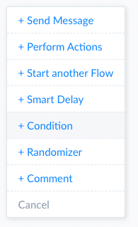 ManyChat Screenshot Start Condition
