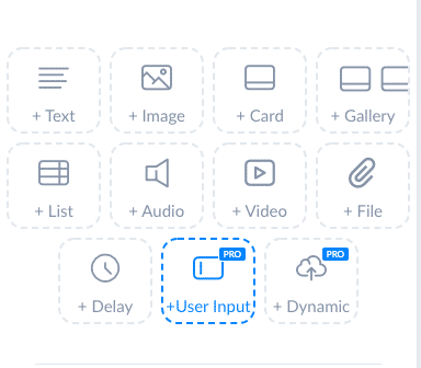 ManyChat Screenshot User Input