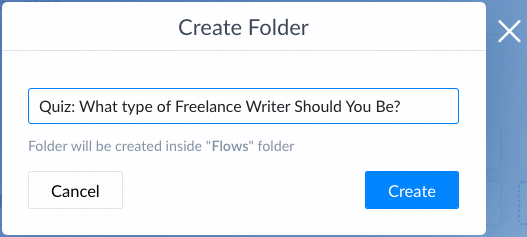 Screenshot Create Folder