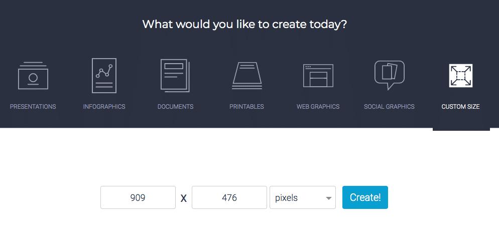 Visme Screenshot New Project