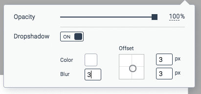 Visme Screenshot Text Effects