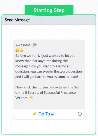 ManyChat Screenshot First Message