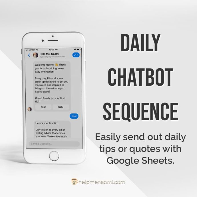 ManyChat-Templates-Daily-Chatbot-Sequence ad mockup