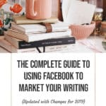 Using Facebook to Market your Writing blog title overlay