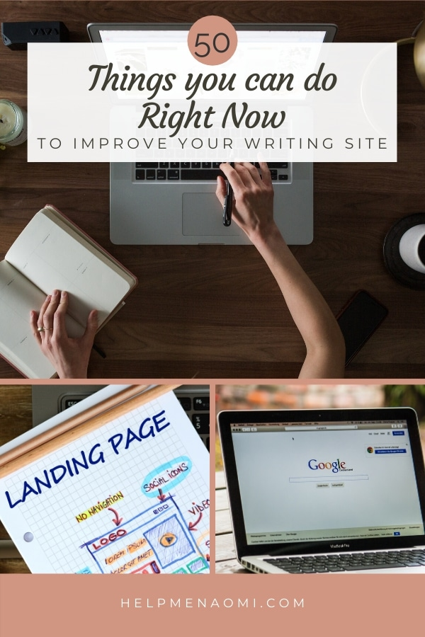 50 Things you can do Right Now to Improve Your Freelance Writing Site blog title overlay