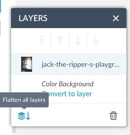 PicMonkey Screen Shot Flatten all layers
