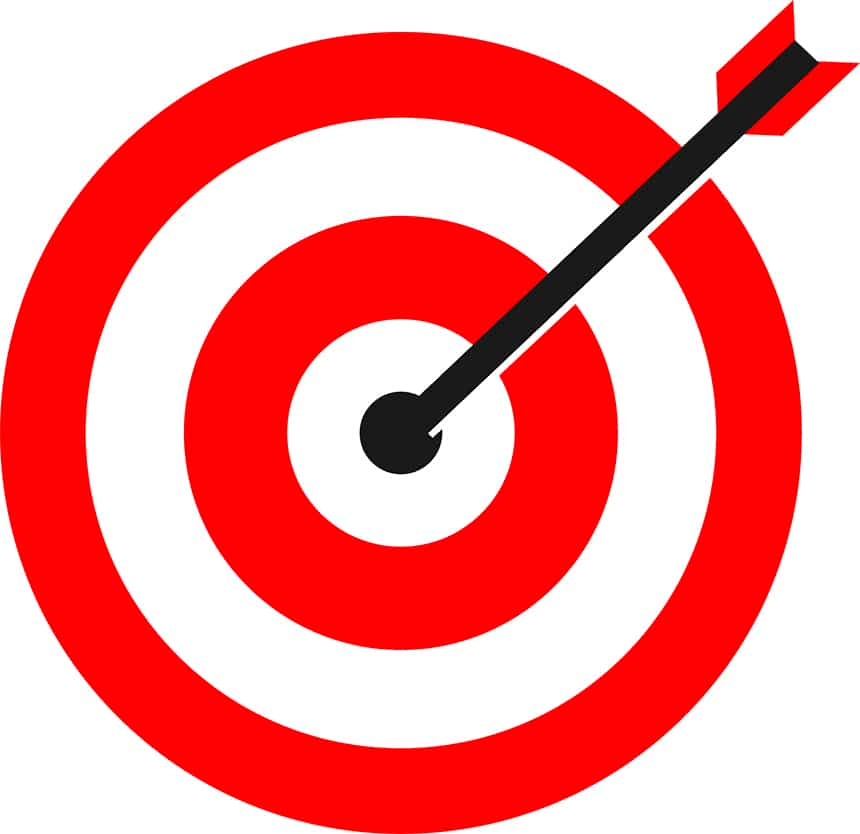 Illustration hitting the bullseye when choosing your target reader.