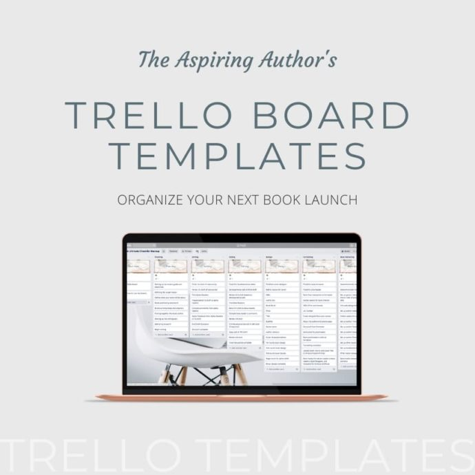 Aspiring Authors Trello Templates Mockup Ad - 850 Square