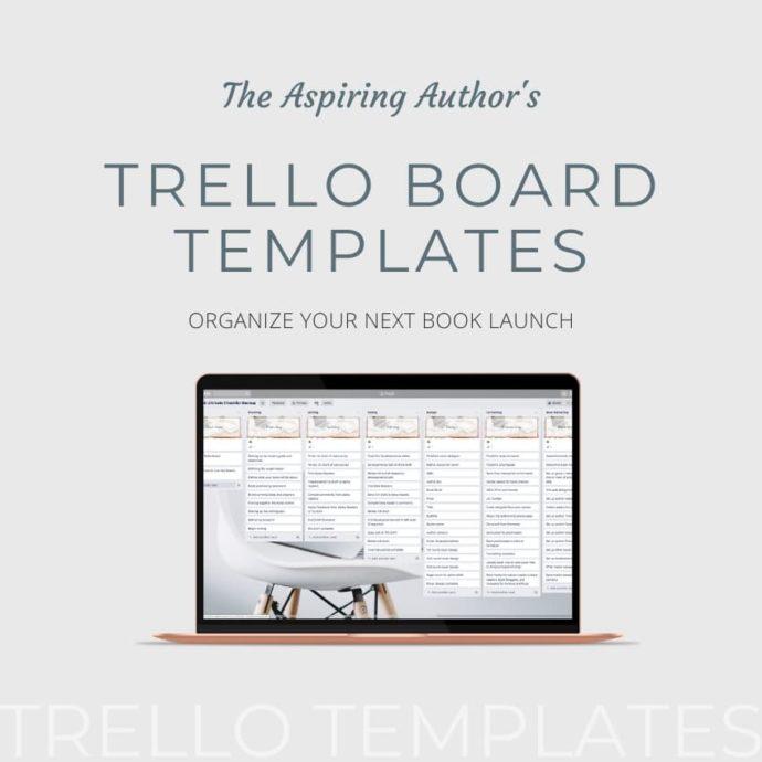 Aspiring Authors Trello Templates Mockup Ad - 850 Square