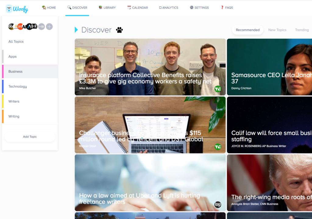 HelloWoofy Social Media Management Tips Screenshot Discover