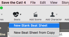 Save the Cat Software Screenshot New Beat Sheet