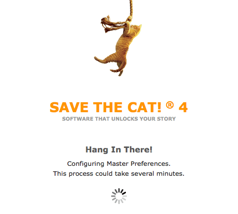 Save the Cat Software Screenshot Installation screen