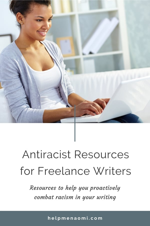 Antiracist Resources for Freelance Writers blog title overlay