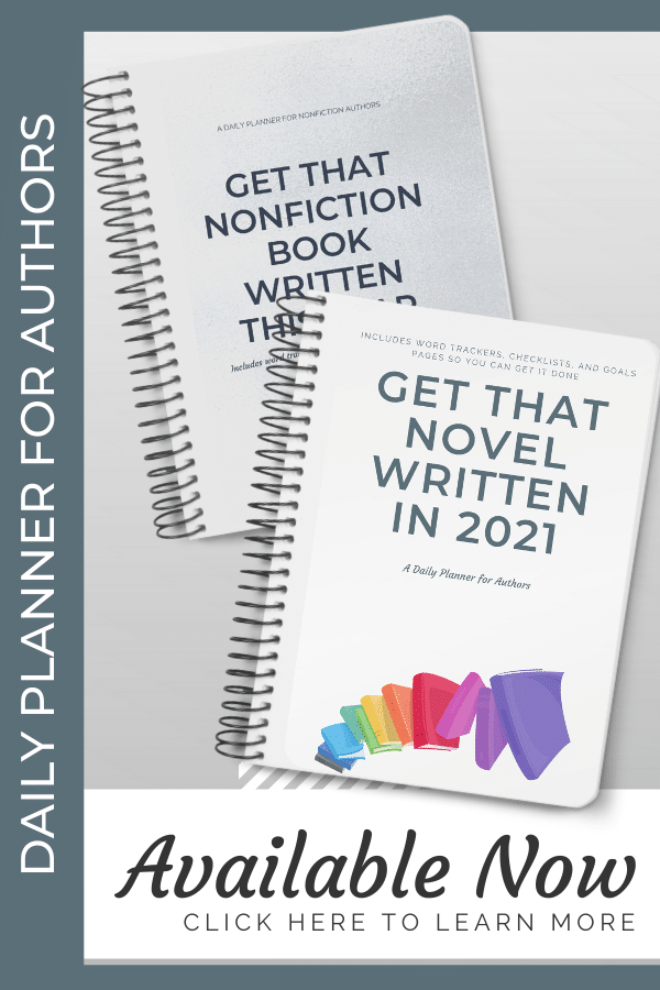 Daily Planner for Authors sidebar ad
